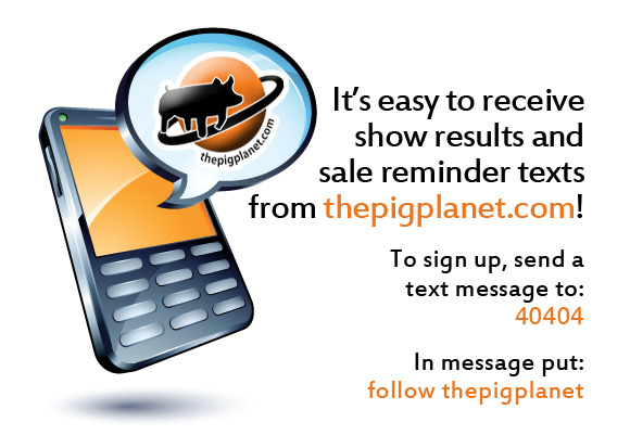 Receive Text Updates from Thepigplanet.com