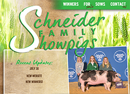 New Site: Schneider Family Showpigs